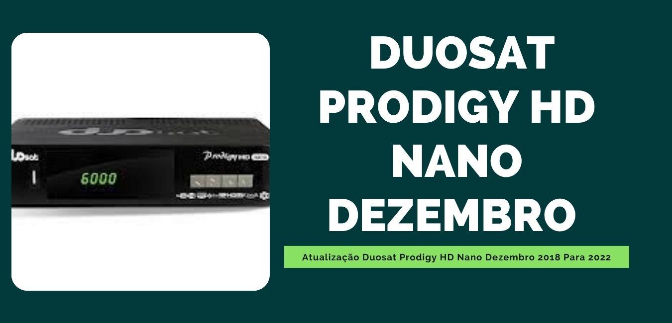 Atualização Duosat Prodigy HD Nano Dezembro