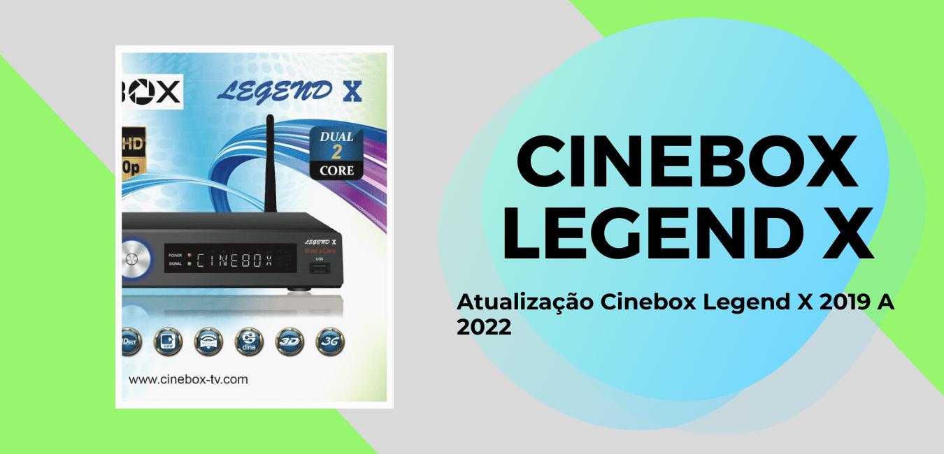 Atualização Cinebox Legend X 2019 A 2022 Por USB