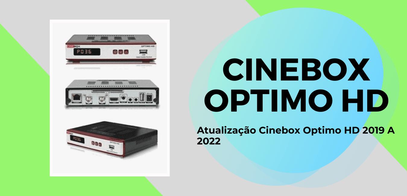 Atualização Cinebox Optimo HD 2019 Para 2022 Por USB